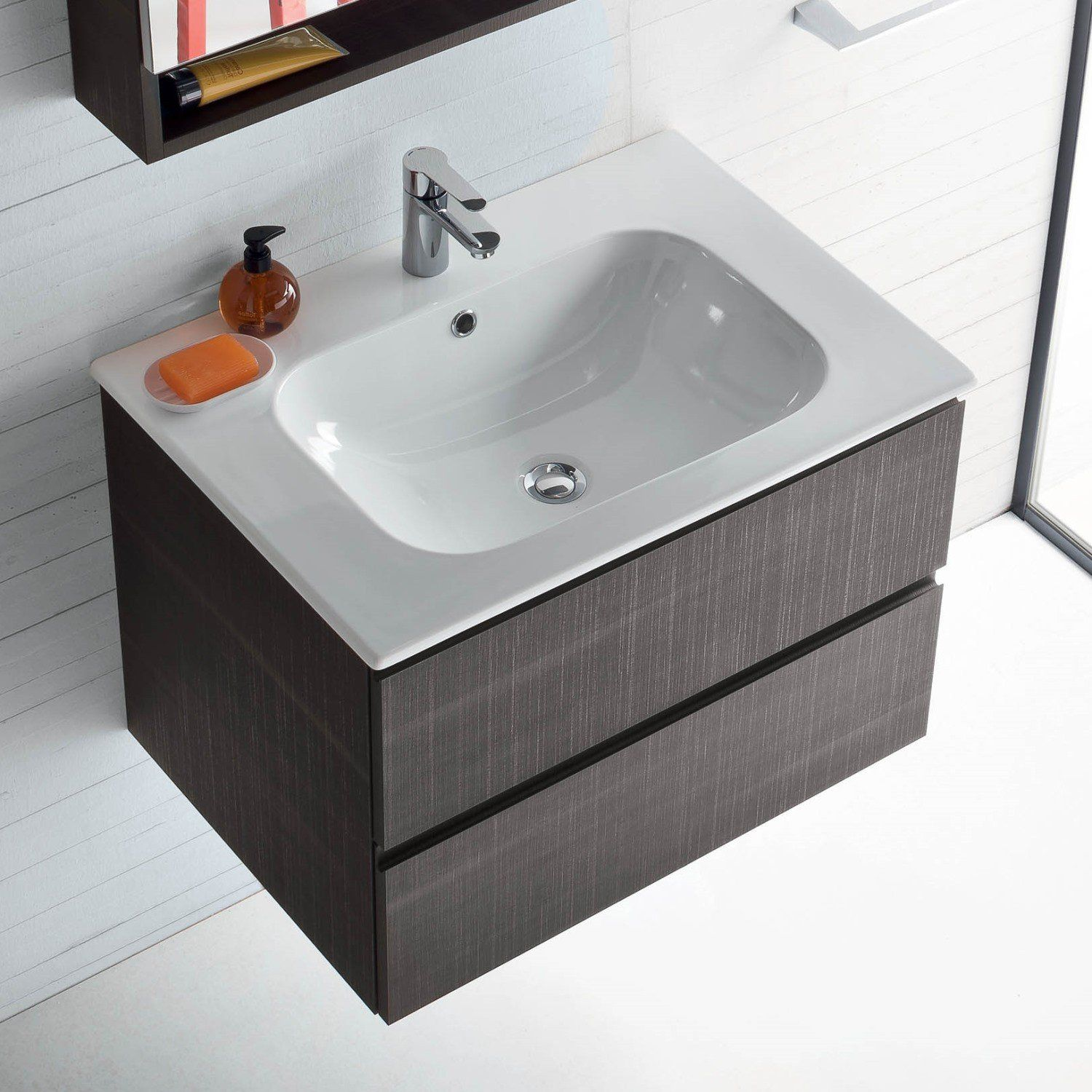 Lavabo Integrato Mobile Bagno Con Lavabo Integrato Nel Piano Atlantic