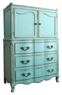 turquoise shabby chic furniture - Design Decoration