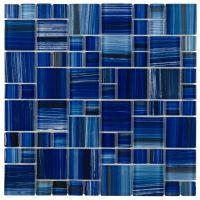 Glass Mosaic Tile Royal Blue Pattern | Glass mosaic tiles ...