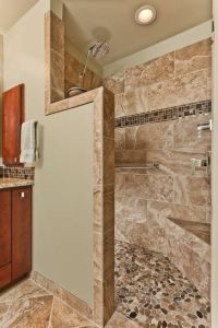 Bathroom remodel with doorless, walk-in shower: | For the ...