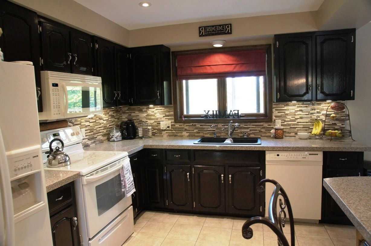 Kitchen Designs With Oak Cabinets And White Appliances Dark Wood Kitchen Cabinets With White Appliances House