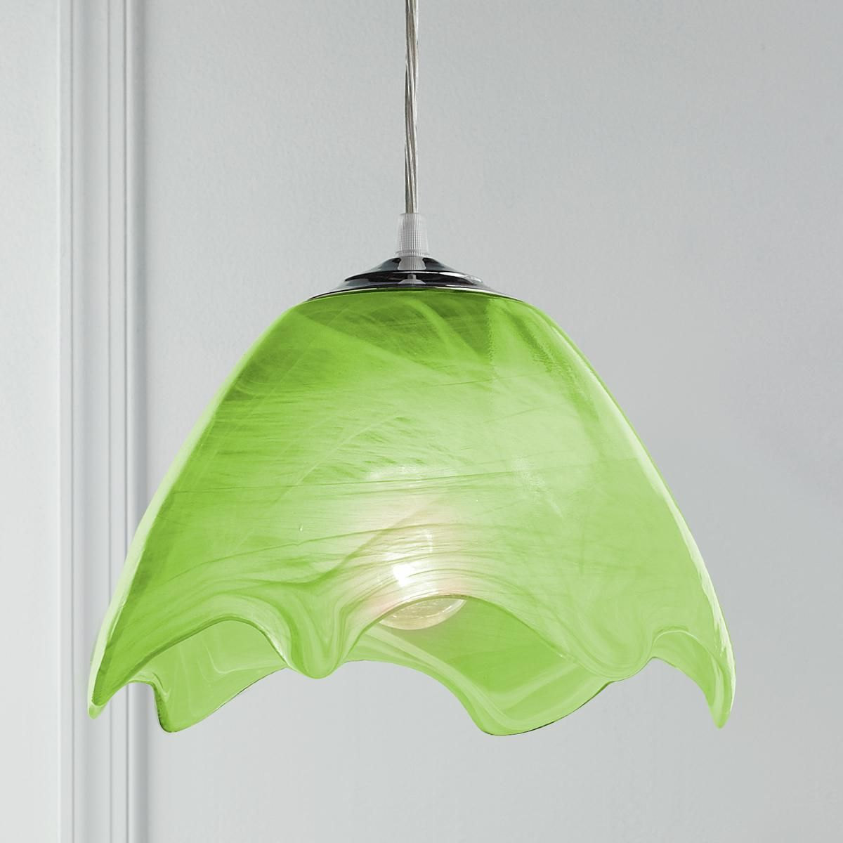 Green Glass Pendant Light Wavy Glass Pendant Light Glass Pendants Pendant