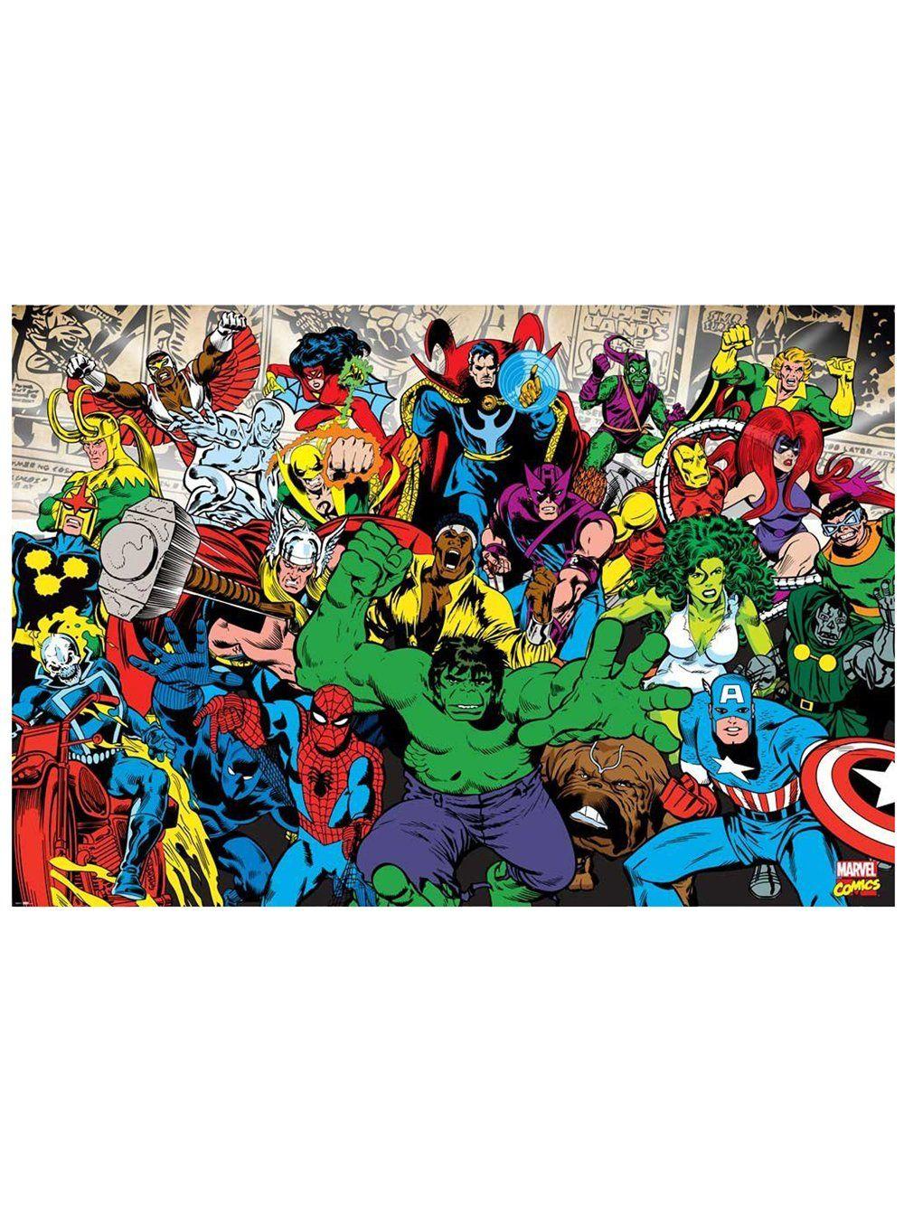 marvel comics wallpaper mural mural de papel de parede na allposters marvel wall mural download