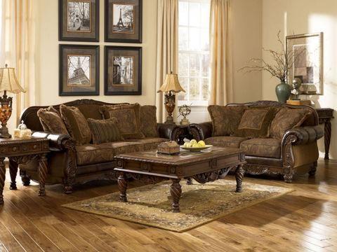 Image for Need Gone Ashleyu0027s Mauricio Old World Bonded Leather - ashleys furniture living room sets