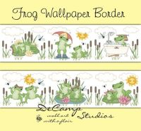 FROG WALLPAPER BORDER Decal Woodland Pond Nursery Wall Art ...