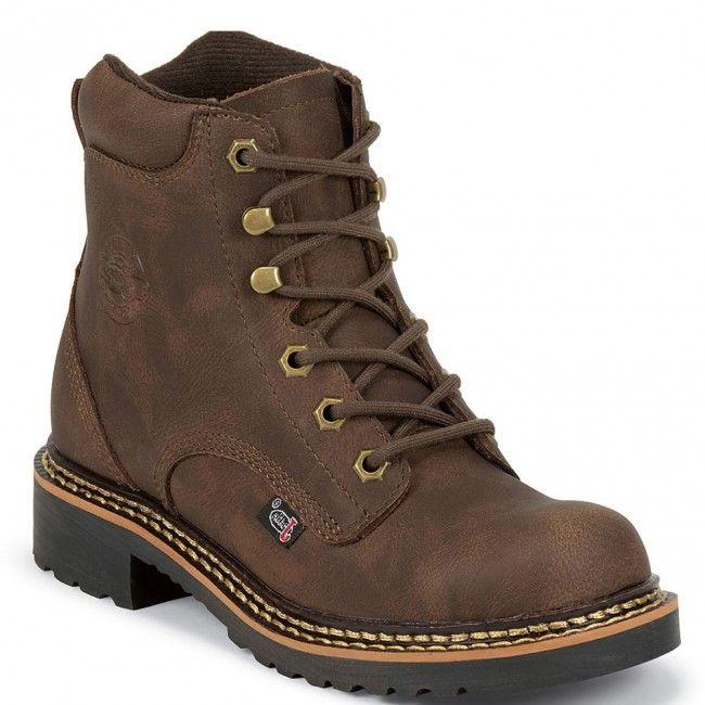 444jr Justin Original Kids Leather Western Boots Brown