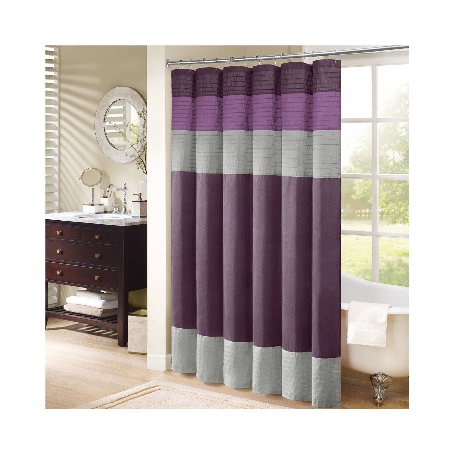 Green hookless shower curtain - Green Hookless Shower Curtain Gray Shower Curtain Fabric 17 Best Images About Curtains From Amazon