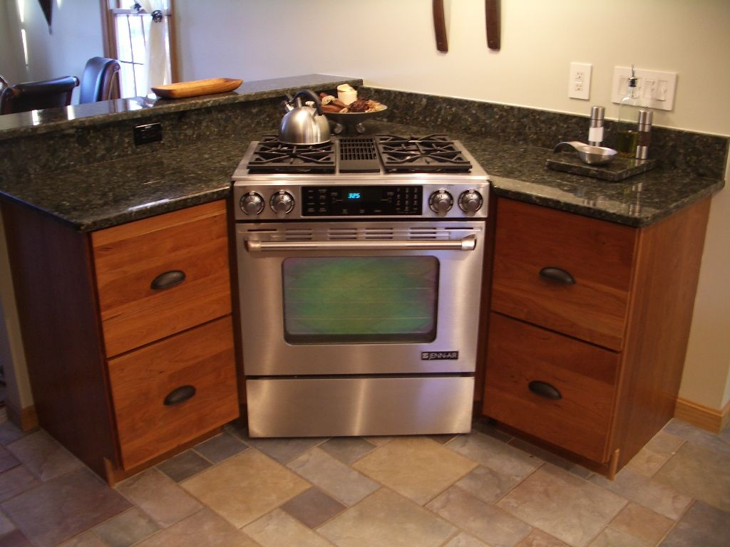 Gas Countertop Stoves Cherry Cabinets Kitchen Cabinets Stainless Steel Range