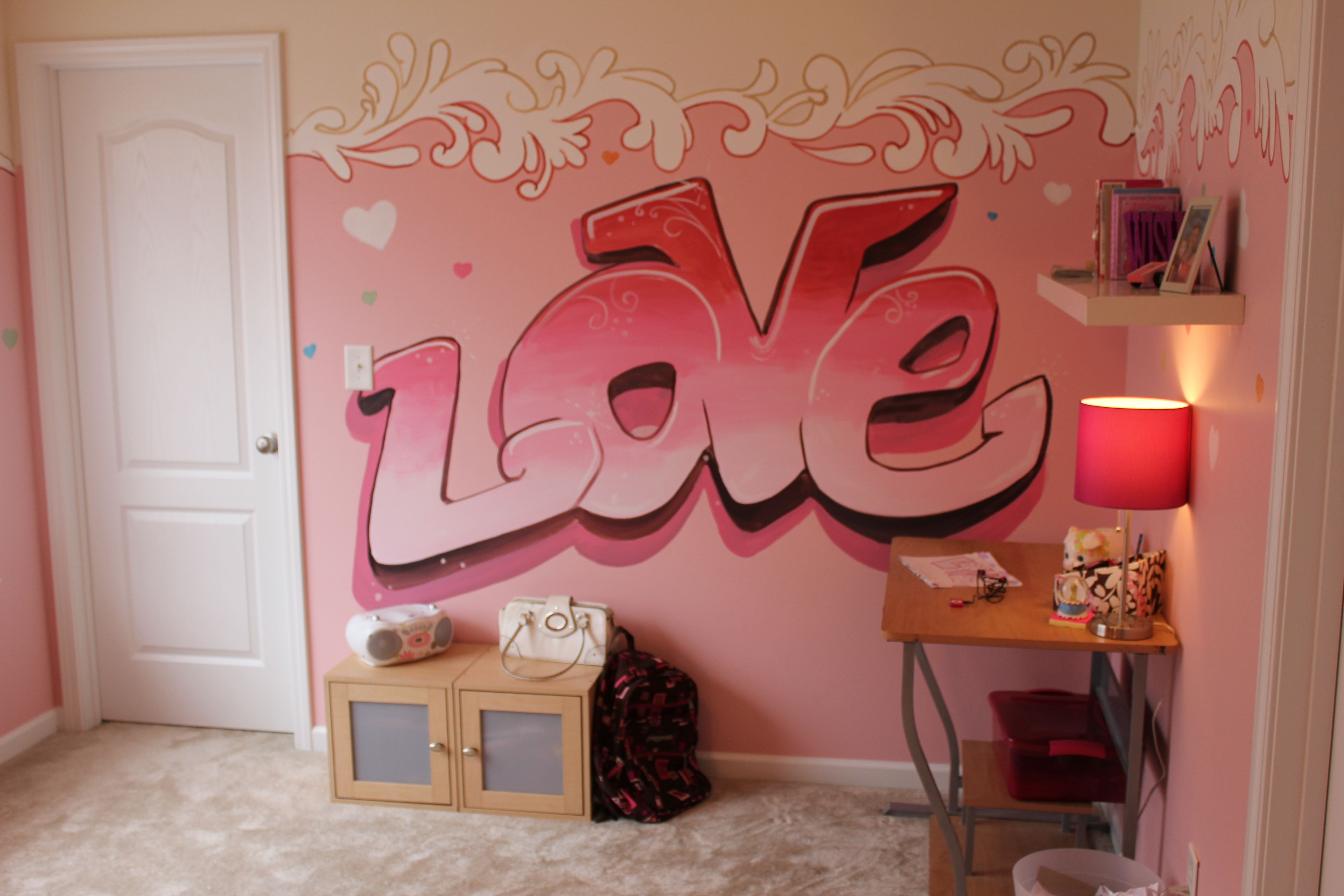 Graffiti Murals for Bedrooms Girls