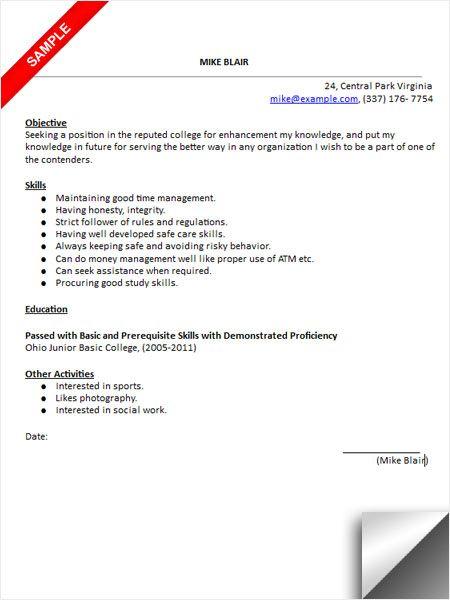 College Admissions Resume Sample College Application Pinterest - college admissions resume