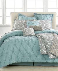 Jasmine Blue 10 Piece California King Comforter Set - Bed ...