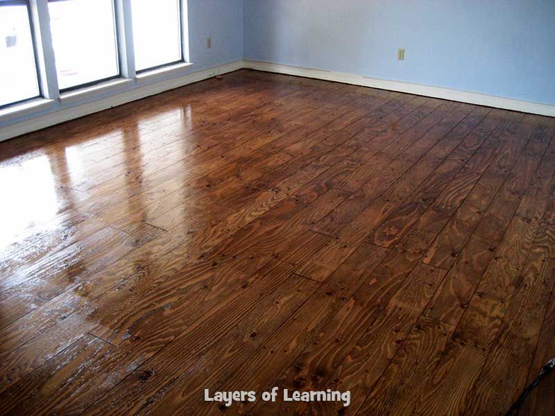 We Installed Real Wood Floors Made From Plywood In Our Living Room