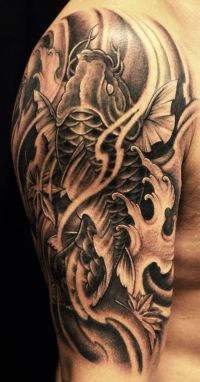Koi Fish Tattoo Sleeve Wallpaper | japanese tattoo ...