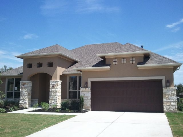 Exterior Stucco Color Gallery | New Home House Stucco Royalty Free