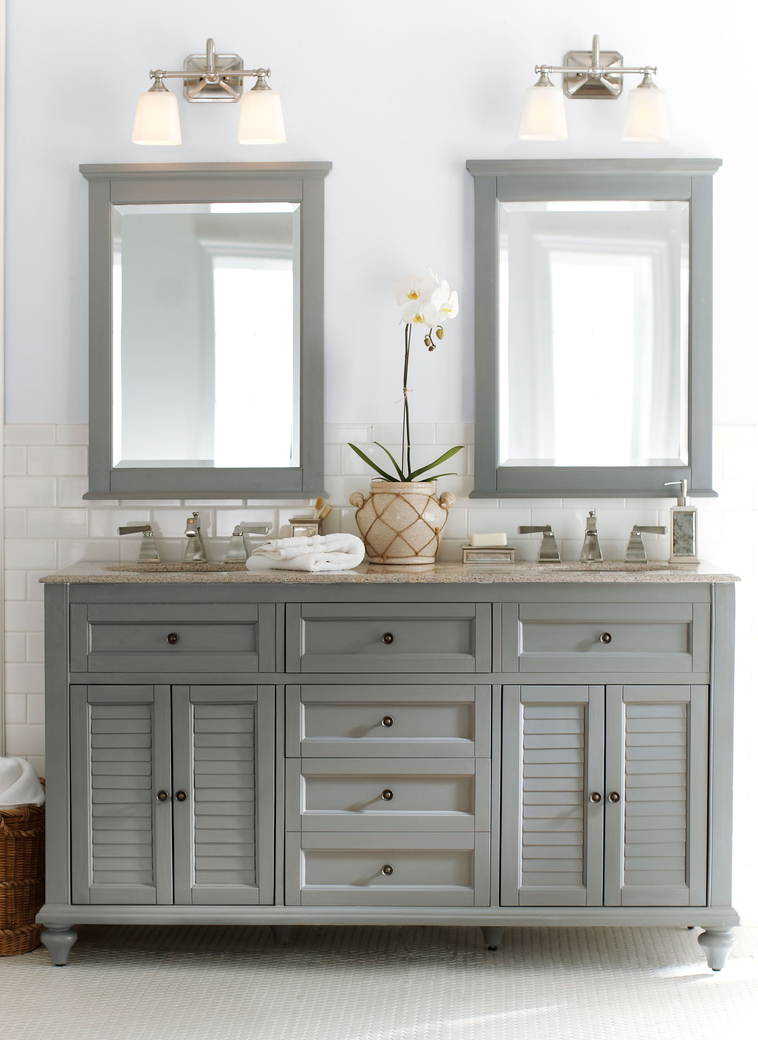 Gray Bathroom Mirror Gorgeous In Grey Double The Fun This Bath Vanity Is A