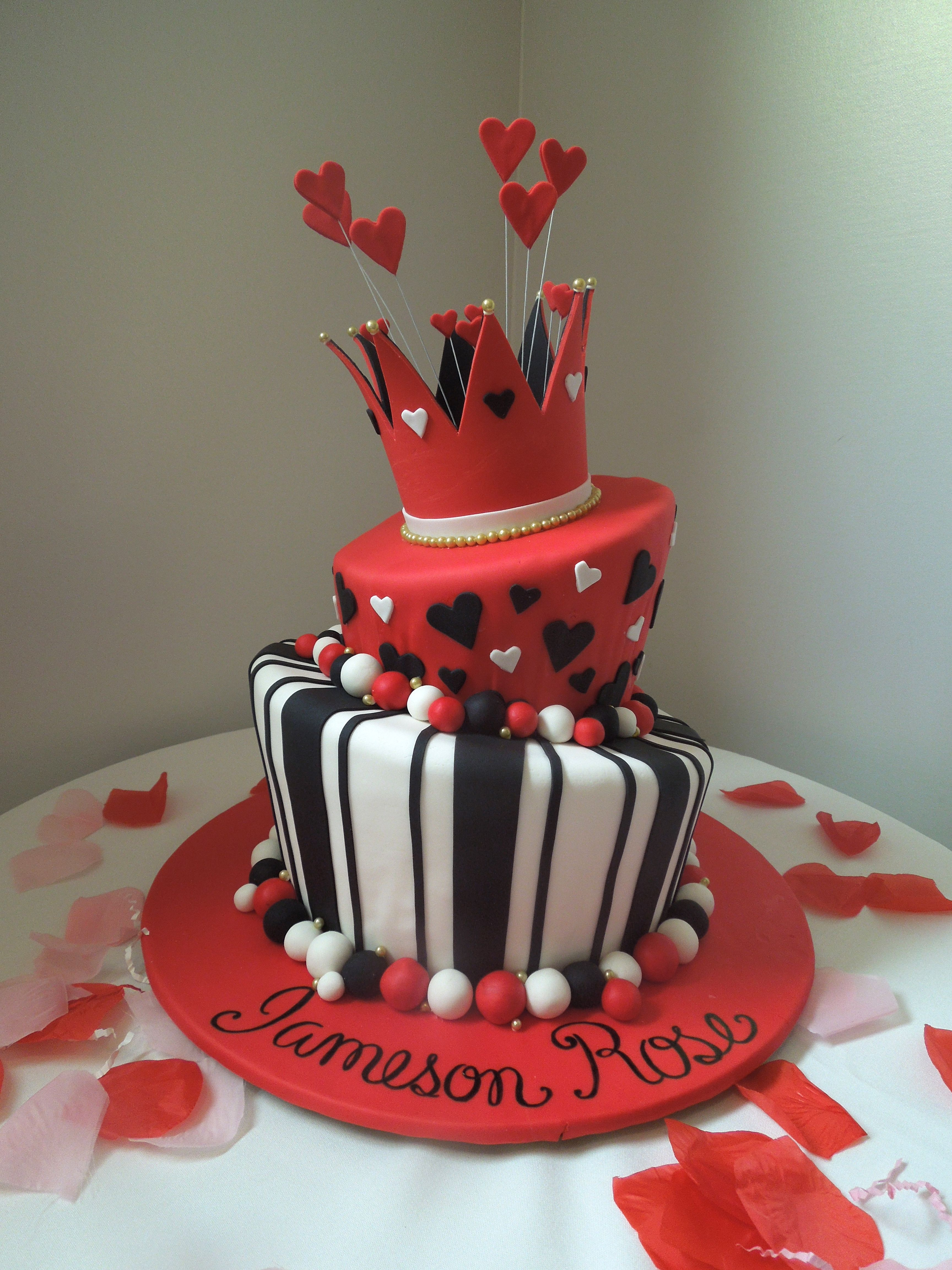 Queen Of Hearts Cake For 1st Birthday Party By Couture