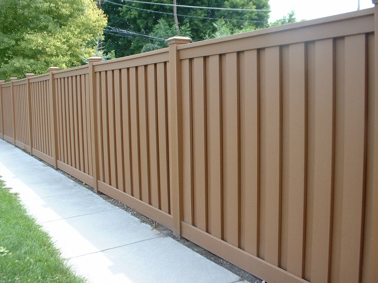 Goedkope Tuinafscheiding Wpc Cheap Fence Panels Wood Plastic Composite Outdoor