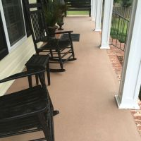 Concrete patio after painted with Behr Granite Grip paint ...