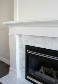 White & Marble Fireplace (The Makeover Details | Paint ...