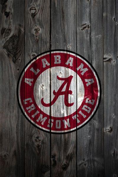 bama pics for football | Alabama Crimson Tide Logo on Wood Background – iPhone 4 wallpaper ...