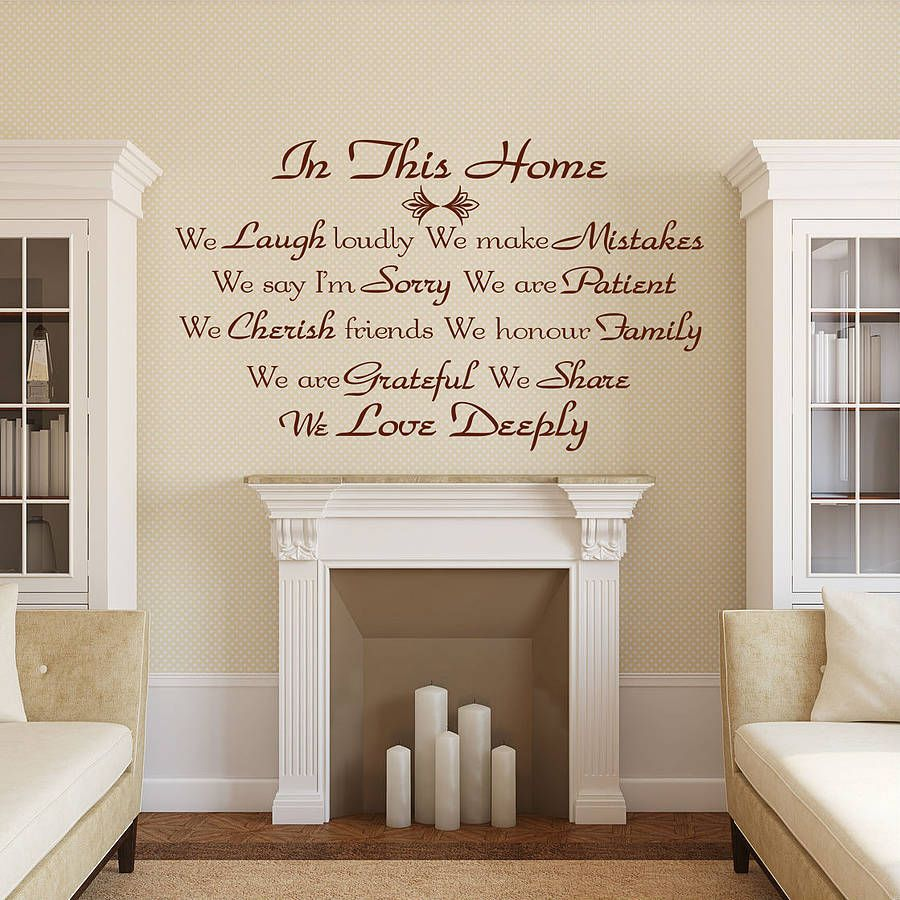Quote wall stickers uk by wall decals uk by gem designs notonthehighstreet com