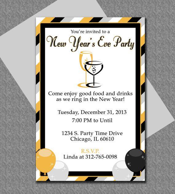 New Yearu0027s Microsoft Word invitation template #newyearsparty - microsoft templates invitations