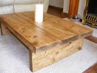 Coffee table, rustic chunky,handmade,solid wood | Solid ...