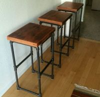 Reclaimed wood & Iron pipe bar stools by wrenchmaven on ...