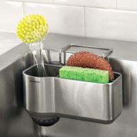 Sink Caddy, Sink Sponge & Brush Holder, Sponge Rack ...
