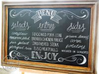 rustic chalkboards for wedding | Menu+Chalkboard+for ...