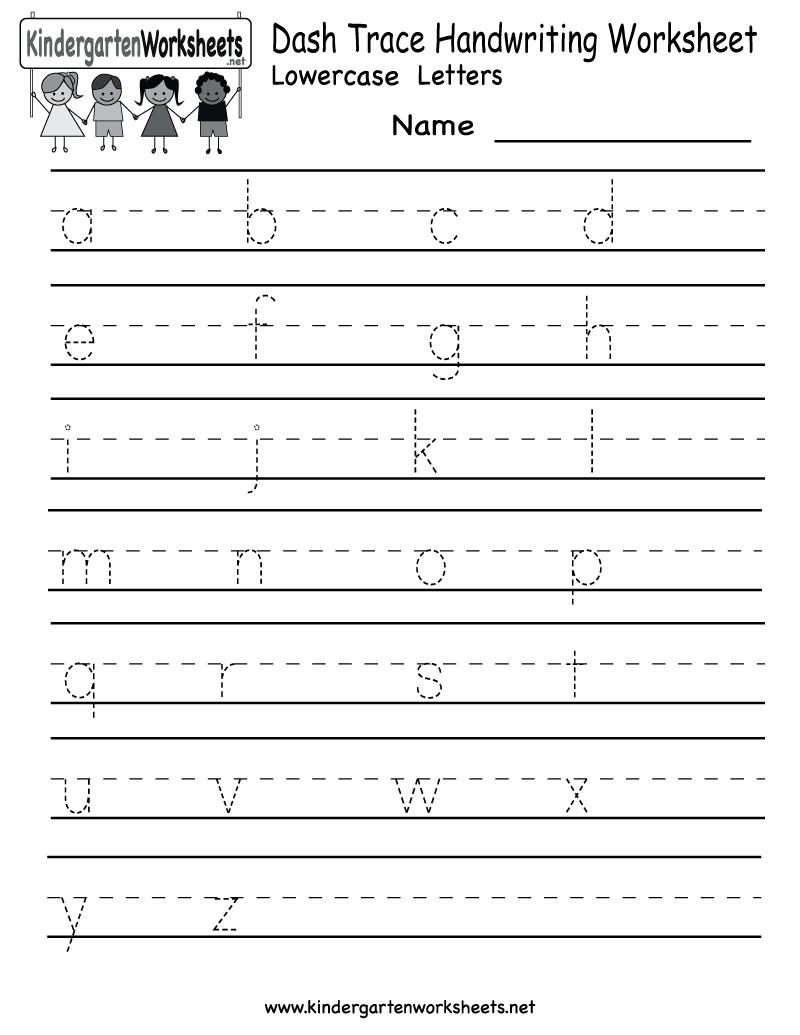 Name Handwriting Sheets For Preschool – Create Writing Worksheets for Kindergarten