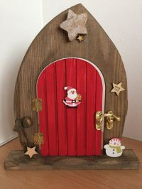 PRE ORDER Elves Only Wooden Elf and Fairy Christmas Door