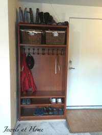 Mudroom locker made from a repurposed bookcase | Jewels at ...