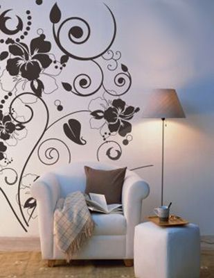 Decorative Flower Vine Wall Stencils Idea Fantastic Decorations - designs for walls