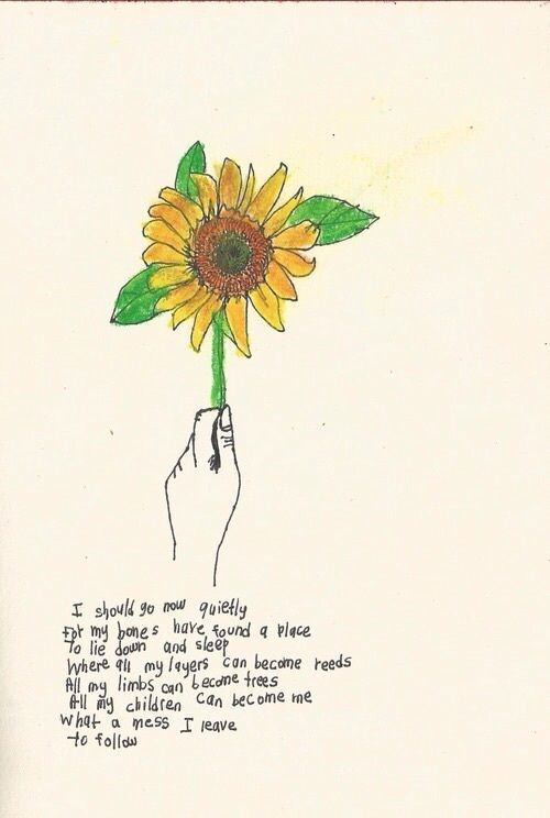 The Yellow Wallpaper Analysis Quotes Soulmate24 Com Photo Poem Quote Sunflower Beauty