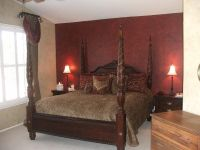 Master bedroom: burgundy walls like this | A Home of My ...
