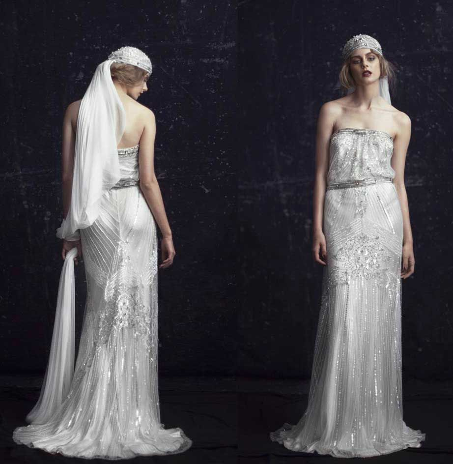 style wedding dress 20s style wedding dress s WEDDING GOWNS Be A us Gatsby Style Bride u Vintage
