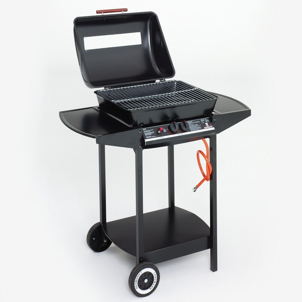 Landmann Gasgrill Portable Landmann Chef 2 Burner Lava Rock Gas Wagon Bbq Grill With