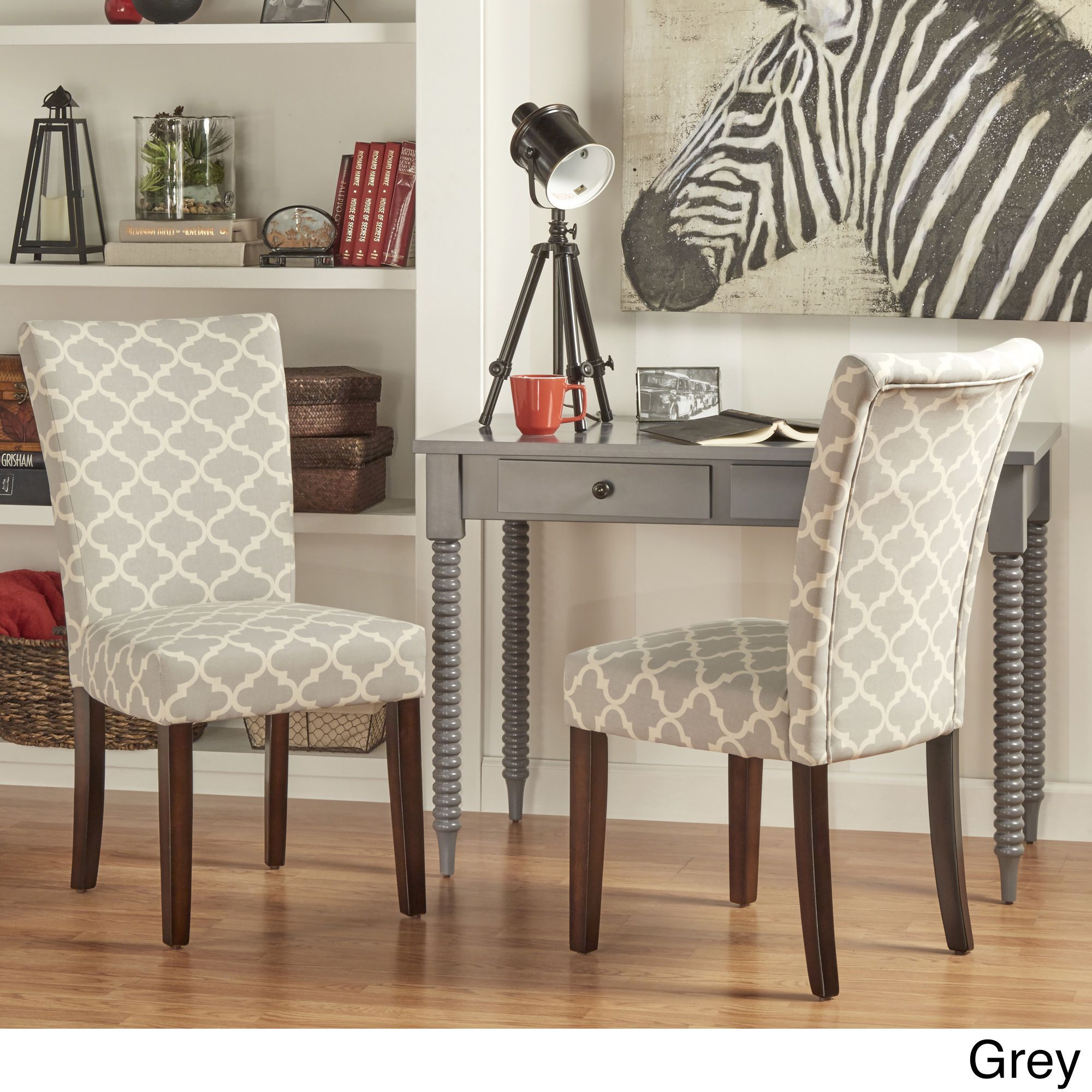 Dining Room Chair Patterns Inspire Q Catherine Moroccan Pattern Fabric Parsons Dining