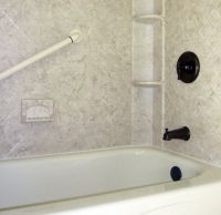 Bath & Shower Wall Surround with Acrylic, Tile & Swanstone ...