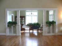 seperating a living room and dining room | Built-in ...