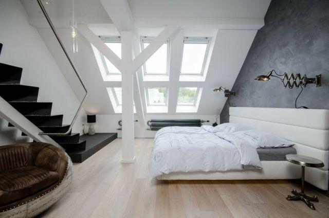 Wohnung Dachschräge einrichten Ideen Schlafzimmer Bedroom - dachschrage gestalten schlafzimmer