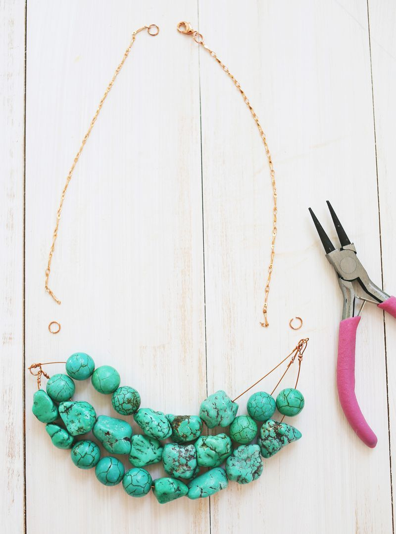How To Make A Simple Beaded Necklace Craft Diy