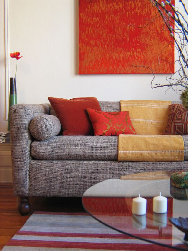 Decorating With Warm, Rich Colors Designers, Room and Asian - deep couches living room