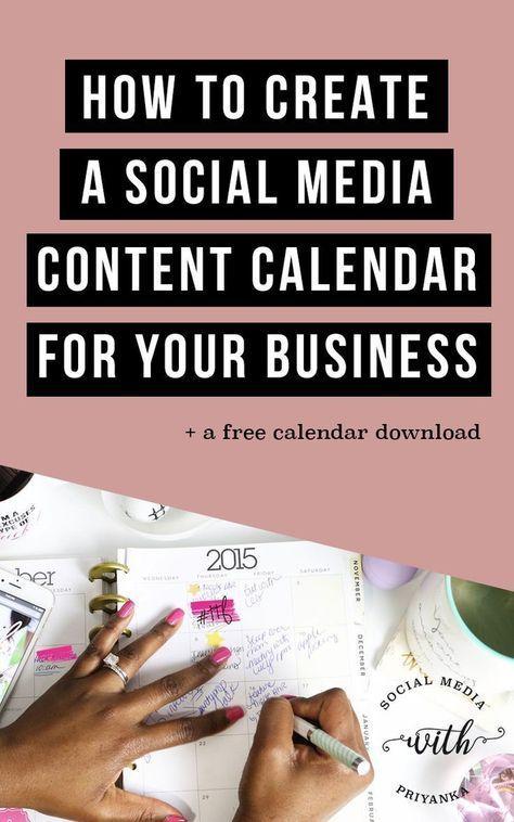 How to Create a Social Media Content Calendar - The 5 Step Guide - steps for creating a grant calendar