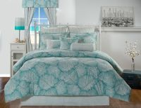 Tybee Island Ocean Coral Turquoise Coastal Beach Bedding ...