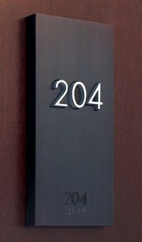 The Montana Residence, Signage hotel room number by ...