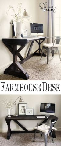 Farmhouse Style Bedroom Desk | DIY & Crafts | Pinterest ...
