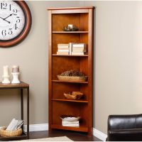 Finley Home Redford Corner Bookcase - Oak - Finally, the ...