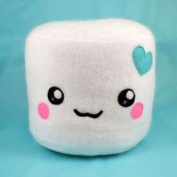 Marshmallow plushies - pillows cushions chocolate dipped ...